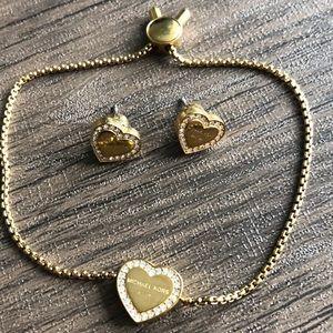 Michael Kors : Matching earrings and bracelet set